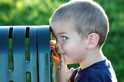 child at park, curious child